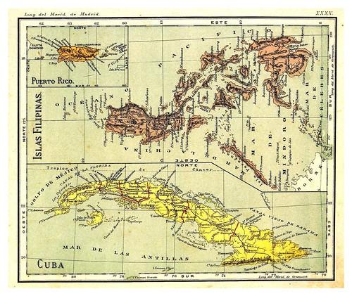 010-Filipinas-Cuba y Puerto Rico-Atlas De Geografía- Astronómica, Física, Política Y Descriptiva 1908- Juan G. Artero