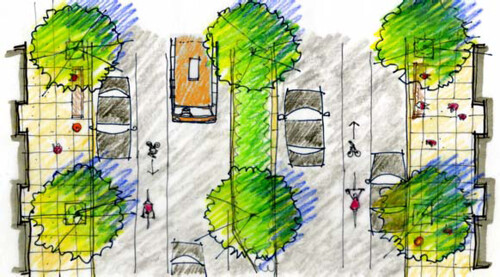 illustration from Tacoma, WA's complete streets design guidelines (by: City of Tacoma)