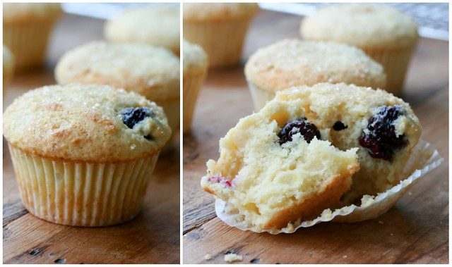 Lemon Ricotta Blackberry Muffins collage 2