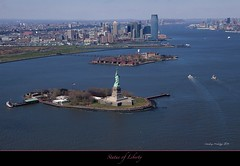 "Aerial view of Statue of Liberty and Ellis Island (Joalhi ""Back in Miami"") Tags: new york river aerialview hudson statueofliberty ellisisland coth5"