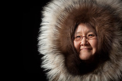Inuit Cultural Performer (davebrosha) Tags: portraits studio mine elder inuit aboriginal mitt ekati kugluktuk sealskin davebroshaphotograhy
