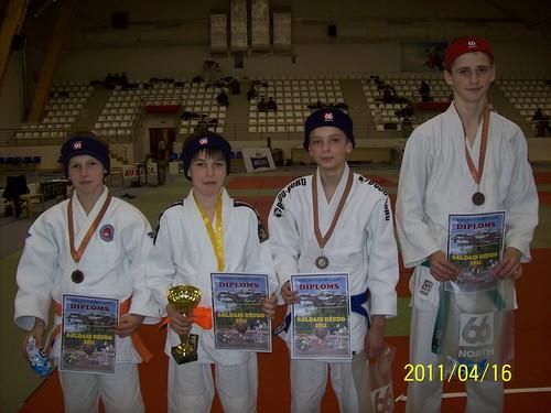 Iš kairės Laurynas Banys, Titas Lesavojus, Gintas Žebrauskas ir Jonas Garba
