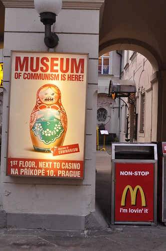 Communism Museum and McDonald's Garbage Can