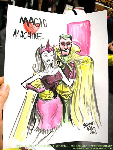 Wondercon 2011 commision art by Brian Kolm