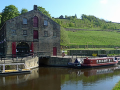 Standedge Visitor Centre (jrw080578) Tags: trees buildings reflections boats canal yorkshire narrowboats huddersfieldnarrowcanal