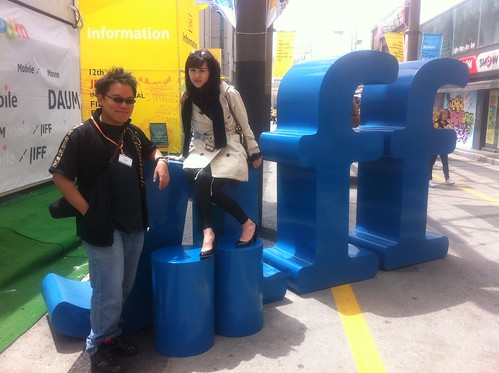 Team EXHALATION at the Jeonju International Film Festival 2011