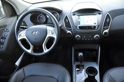 The Grippy Leather Steering Wheel Has Audio Controls On The Left, The  Excellent Cruise System On The Right, While The Phone Operations On The  Lower Left And ...
