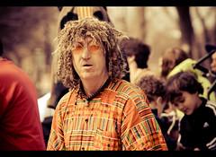 Hippie (Cyrielle Beaubois) Tags: portrait people orange canada man color face canon eos montral sunday sigma qubec hippie montroyal dimanche homme tams 2011 55200mm tamstams 400d eos400d cyriellebeaubois