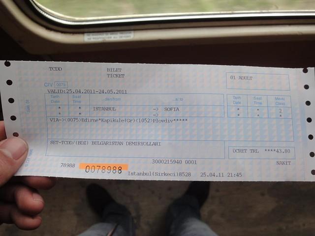 Bilhete de comboio Istambul até Sofia