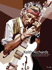 keith richards rolling stone (Rizki Dion) Tags: portrait colour art fashion illustration popart adobe vector corel