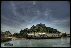 St. Michaels Mount_CatchinUp_37/365 (domi_k) Tags: uk sea england sky house building castle water clouds island coast boat seaside cornwall mount nationaltrust hdr stmichaelsmount