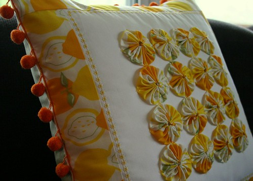 Lemon Drop Pillow - side A