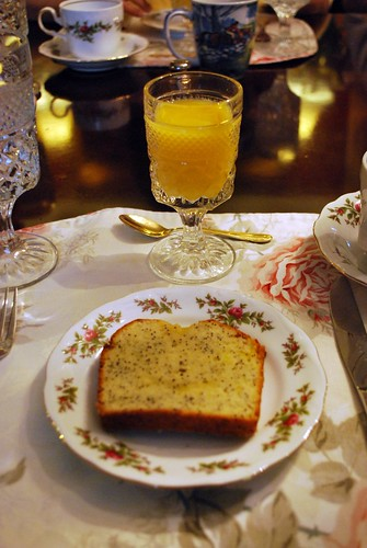 Lemon Poppy Bread & Orange Juice