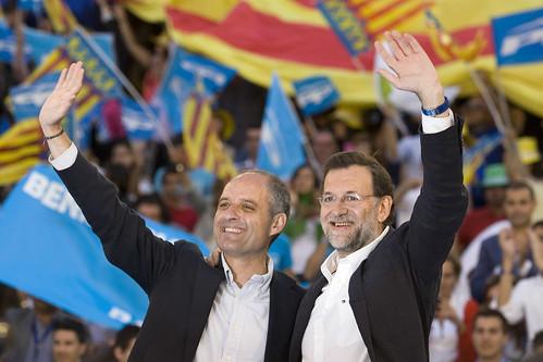 Camps y Rajoy en un mitin