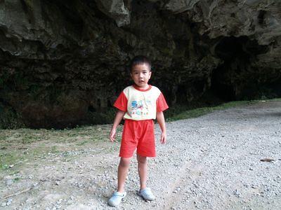 Julian at a cave