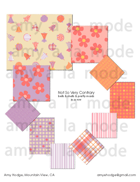 Not So Very Contrary Fabric Line