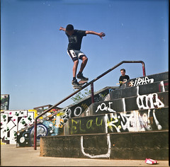 Backside Lip (Merlin 'Appa Connectionz') Tags: color colour stair skateboarding skating hard rail skate trick zutphen spz backlip