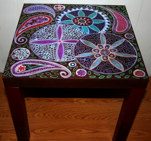 Table 18'' x 18'' x 17.7'' by Rick Cheadle Art and Designs