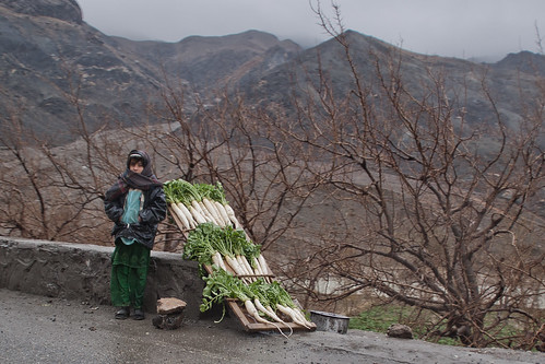 Road side peddlers on Kabul-Jalalabad Hwy