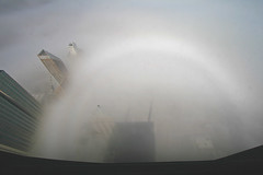 Fogbow from the John Hancock Center Observation Deck (stormdog42) Tags: city shadow urban chicago building fog skyscraper illinois down johnhancockcenter observationdeck fogbow