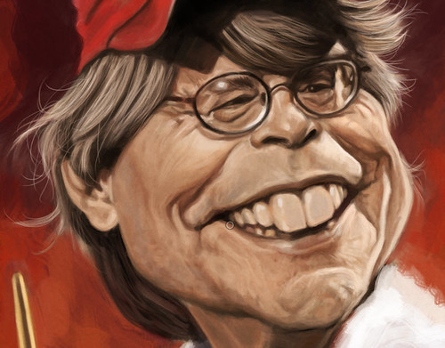 digital caricature of Stephen King - 3
