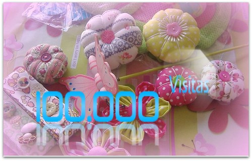 100 mil visitas no Blog by Fuxiquices-da-isa