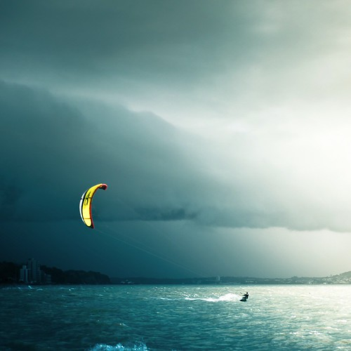 Night Kite Surfer