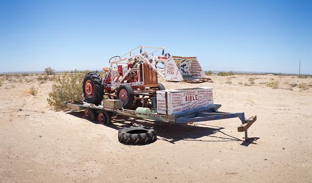 Salvation Mountain Tractor