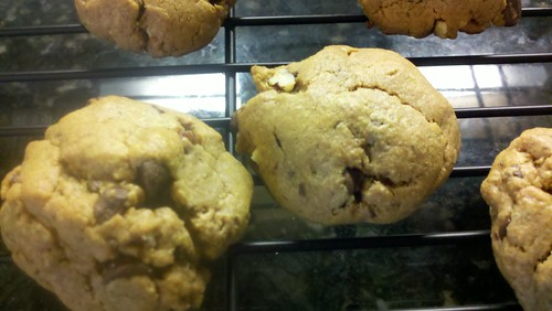 Gluten free peanut chocolate chip cookies