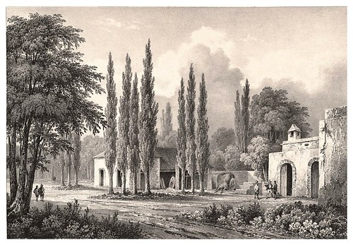 007a-Hacienda en los alrededores de Mendoza-Journal de la navigation autour du globe… 1837-Barón de Bouganville-fuente BOTANICUS