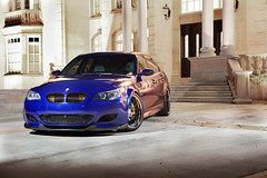 BMW M5 (howIroll) Tags: auto blue house car speed cool power steve fast m reflect bmw carbon fiber m5 modded howiroll