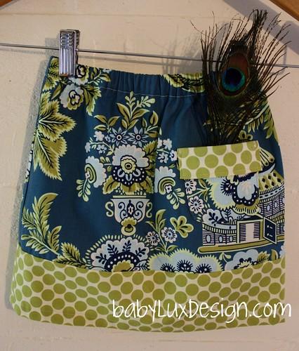 baby lux toddler skirt- back pocket