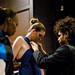 Saints and Sinners Fashion Show -  Designer john Leon Makes an Adjustment
