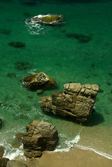 Beach in Tayrona National Park, Colombia (Rafcha) Tags: blue sea tree beach southamerica rock coast nationalpark sand cabo colombia colombian turquoise carribean palm tayrona