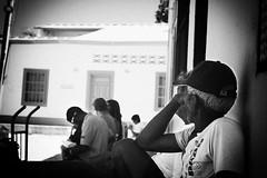 Looking back (redondo8) Tags: old bw white man black los venezuela roques