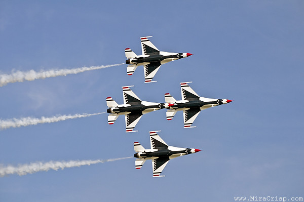 Thunderbirds in the air