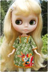 bunny driving tunic dress
