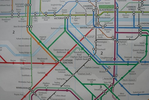 Local map with the mysterious track shown