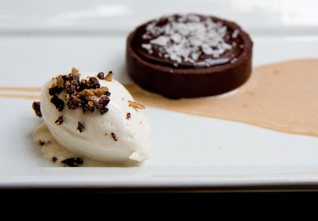 Chocolate caramel tart, Pure Food and Wine
