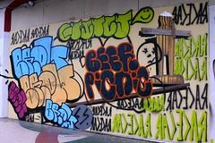 brow, quincy, beer picnic, racecar (caffeina) Tags: sf sanfrancisco street city urban racecar graffiti quincy mural decay graf tags tagging harding divisadero brow nopa hardingtheater beerpicnic