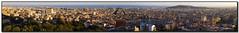 Barcelona Panorama as the Sun Sets (seagr112) Tags: barcelona city panorama skyline spain cityscape photomerge parcguell espanya sweeppanorama sonynex5