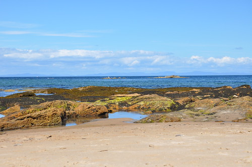 Hopeman Beach looking out on to the Moray Firth