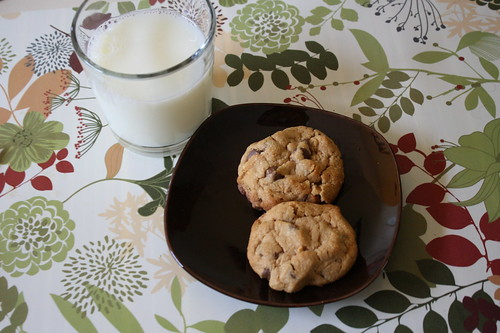 milk and pb chocolate chip cookies