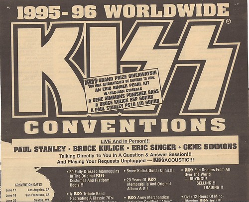 07-16-95 Kiss Convention @ Bloomington, MN (Large Ad - Top)