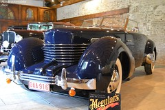 Cord 812 1936 (Monde-Auto Passion Photos) Tags: auto automobile cord bleu cabriolet spider france cercanceaux prestige ancienne