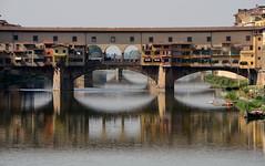 Ponte Vecchio (Neilhooting) Tags: florence italy firenze italia tuscany pontevecchio bridge arno river reflections riverarno