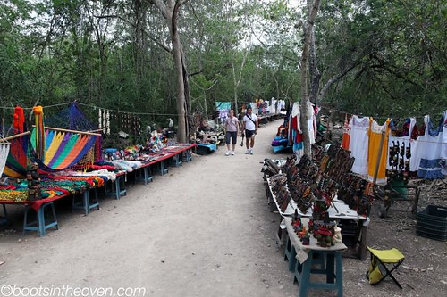 The paths between sites were lined with people selling.