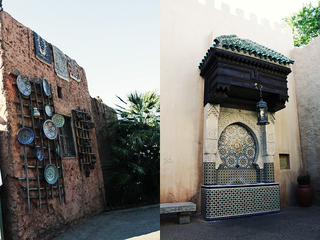Epcot World Showcase Morocco diptych