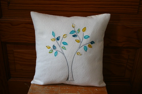 Tree Stitch Pillow