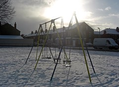1577 (benbobjr) Tags: park uk winter england snow ice playground unitedkingdom swings swing lincolnshire lincoln playingfield midlands rec eastmidlands recreationground